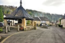 Castle Combe Market Place Viewed from the Castle Inn