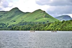 Cat Bells View with Rowers on Derwentwater in the Lake District