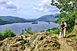 Surprise View Looking North Over Derwentwater, with Bassenthwaite Lake in the Distance