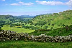 Looking Over a Drystone Wall Across Eskdale to Muncaster Fell in the Lake District