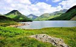 Wast Water View North to Yewbarrow, Great Gable and Scafell in the Lake District