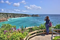At the Entrance to the Minack Theatre is a Stunning View of the West Cornwall Coast