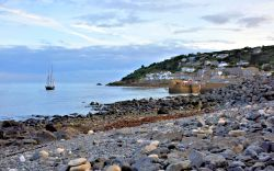 Mousehole Bay with Yacht