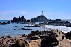 At Jersey's Southwest Corner is La Corbière Lighthouse, which is Accessible by a Footpath at Low Tide