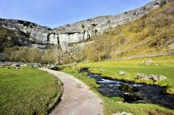 Malham Cove & Beck Viewed from the Approach Path