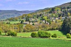 Curbar Village on the Hillside Near Baslow
