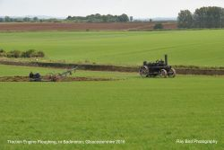 Traction Engine Ploughing, nr Badminton, Gloucestershire 2016