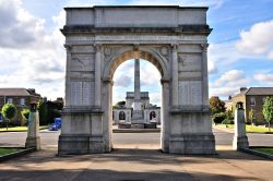 The Roll of Honour Arch & the Lord Kitchener Obelisk at Brompton Barracks, Kent