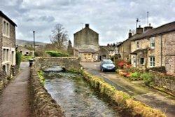Peakshole Water Running Through Castleton Village