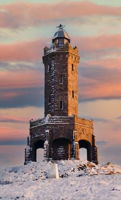 Darwen Tower at sunset