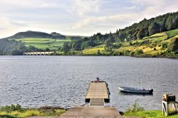 Ladybower Reservoir Viewed from the Fisheries Launch Ramp, towards the  Snake Road Bridge