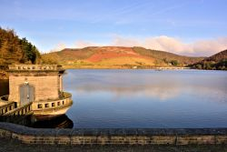 View North from Ladybower's Dam Wall, as Evening Approaches
