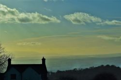 Looking west .on a misty afternoon from Cleehill.
