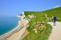 Photographing the Cliffs at Durdle Door