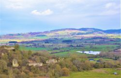 A view of Wigmore Castle Ruins.