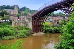 View of the Ironbridge and the Village Named After It