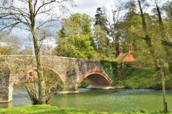 Bridge over the River Teme at Bromfield.