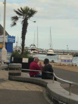 View of Poole Harbour from the quay