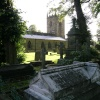 The Churchyard of the plague village of Eyam, Derbyshire. 23 July 04