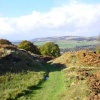 The landscape over Baslow, Derbyshire -
