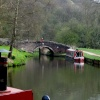 Canal boats at Consall, Staffordshire
