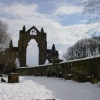 Guisborough Priory in the snow 2003