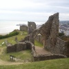 Hastings Castle downward view  taken  June 2004