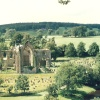 View of Bolton Priory, North Yorkshire.