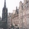 View of the 'Royal Mile' that runs from Edinburgh Castle to the Palace of Holyroodhouse.