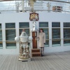 The ships bell on Britannia at Leith