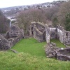Okehampton Castle in Devon