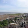 View from the top of the ferris wheel at Skegness Pleasure Beach