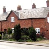 Cottages near site of railway. Pinchbeck, Lincolnshire