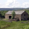 Abandoned field barn, Gisburn forest, Hodder Valley, Lancashire