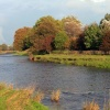 Autumn, River Ribble between West Bradford and Grindleton, Lancashire