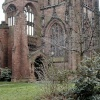 Bombed ruins of the Old Cathedral in Coventry.