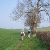 Walking towards Riby Grove Farm, Near Laceby, Lincolnshire