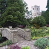 Church and Coronation Gardens, Waddington, Lancashire