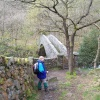 The millennium Bridge over the River Duddon, Dunnerdale, S W Lakes