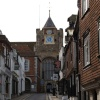 Lion Street with St Mary's Church, Rye, East Sussex