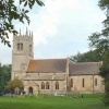 St. Oswald's, Blankney, Lincolnshire. The church was largely rebuilt 1820 and again in 1879-80.