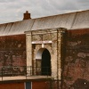 The Gateway into Landguard Fort, built in 1740 and converted in 1875.