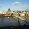 Millennium Bridge & St Paul's Cathedral, London