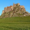 Lindisfarne Castle rear, on Holy Island -