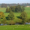 River Aln from Alnwick Castle, Northumberland