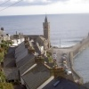 The clock tower and pier at Porthleven in South Cornwall