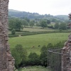 View from Clun castle in South Shropshire.