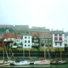 River Esk and East Side in Whitby, North Yorkshire