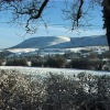 PENDLE IN THE SNOW FROM CLITHEROE.
