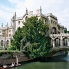 St John College and River Cam in Cambridge